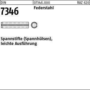 Reidl Spannh/ülsen schwere Ausf/ührung 2,5 x 8 mm DIN 1481 Stahl blank 10 St/ück