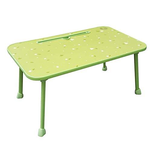 Anah Mesa Plegable Mesa de Campamento de Comedor al Aire Libre de Interior Mesa de Picnic de plástico portátil con Esquinas Redondeadas y asa Bandeja de Desayuno for niños (Color : Green)