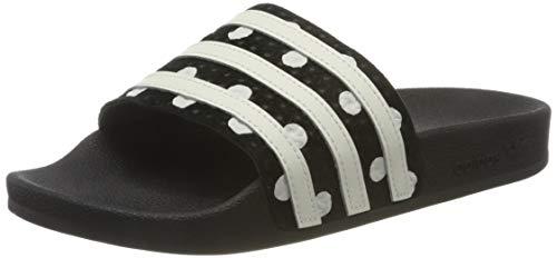 adidas Adilette W, Zapatillas, Core Black/FTWR White/Core Black, 35.5 EU