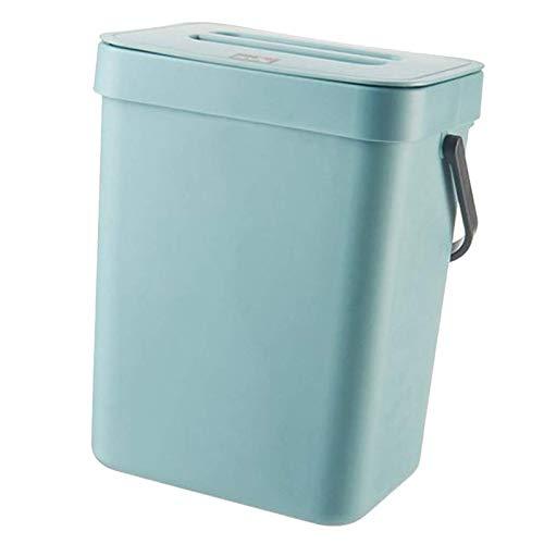 Tubayia Hängende Mülleimer Kunststoff Abfalleimer Abfallkorb Papierkorb für Küche, Badezimmer (Blau,3L)