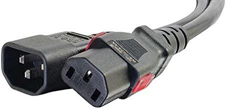 C2G/Cables to Go 10357 Locking C14 to C13 10A 250V Power Cord, Black (1 Foot)