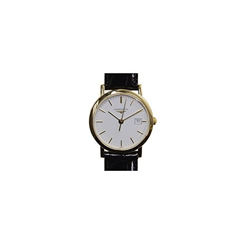 [ロンジン]Longines 腕時計 Presence White Dial Leather Watch L4.279.6.12.0 [並行輸入品]
