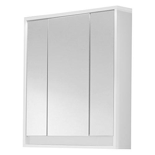 trendteam smart living Badezimmer Spiegelschrank Spiegel Sol, 67 x 73 x 18 cm in Korpus Weiß, Front Weiß Hochglanz ohne Beleuchtung