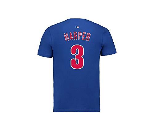 Fanatics Philadelphia Phillies Bryce Harper Name & Number T-Shirt Blau - MLB Baseball (XL)