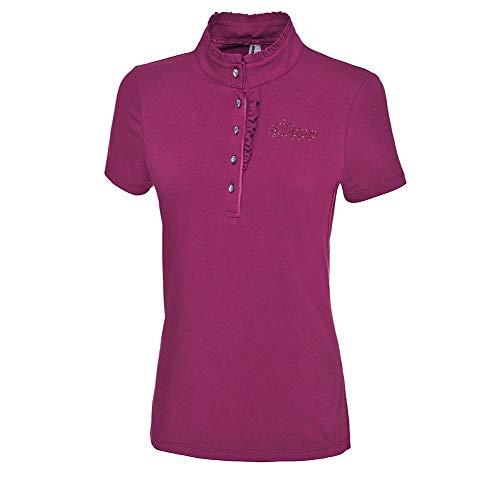 Pikeur Damen-Poloshirt mit Plissee DANTESS, Grapevine, 36