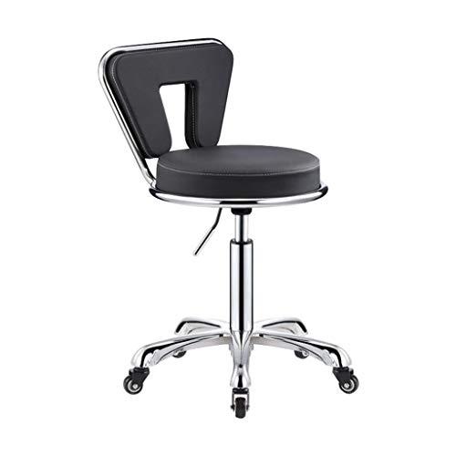 Lszdp- & zio Barhocker, modern, drehbar, fortschrittliche Friseursalon, PU-Leder, Chefsessel, Home-Office, geeignet für Stühle im Innenbereich Schwarz 1