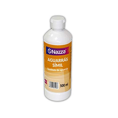 Aguarrás Símil Nazza | Disolvente adecuado para pinturas al óleo | Diluyente para barnices y pinturas sintéticas | Envase de Plástico de 0,5 Litros