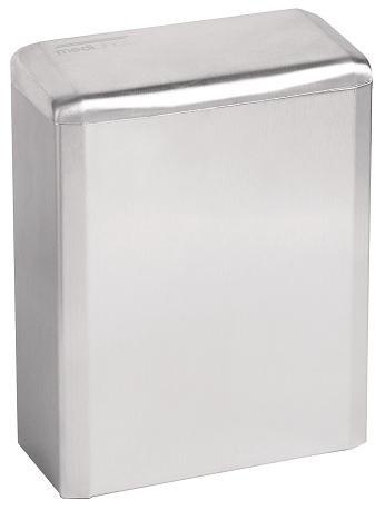 Mediclinics Hygienebehälter - geschlossen- 6 Liter - Hochglanz - Mülleimer