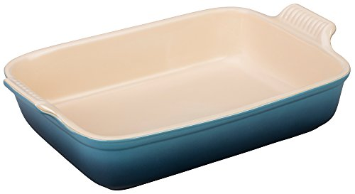 Le Creuset PG07003A-326M Heritage Stoneware Rectangular Dish, 12-by-9-Inch, Marine