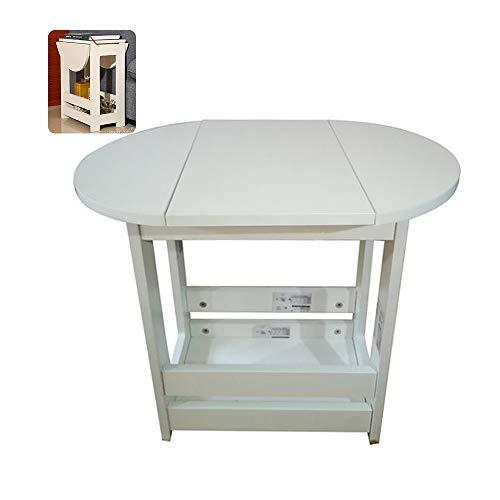 OTENGD Tavolo allungabile, Tavolo da Cucina in Legno con Tavolo Ribaltabile allungabile, Design Compatto, per Cucina Sala da Pranzo Soggiorno Appartamento