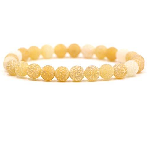 ShSnnwrl Stile Classico Braccialetto in Pietra Naturale Esposta all Aria 8Mm Perline Perline Fatte A Mano Perline Rotonde Bracci