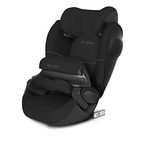 CYBEX Silver 2-in-1 Kinder-Autositz Pallas M-Fix SL, Für Autos mit und ohne ISOFIX, Gruppe 1/2/3 (9-36 kg), Ab ca. 9 Monate bis ca. 12 Jahre, Pure Black