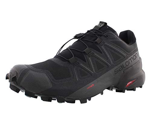 Salomon mens Speedcross 5 Trail Running, Black/Black/Phantom, 10.5 US