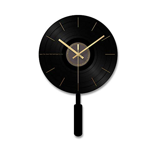 XSZ Modern Design Large Silent Creative Wall Clock Battery Operated for Kitchen Office Living Room Bedroom Decorative (11.8X 18.1 WxL)