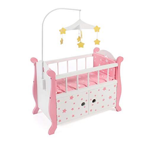 Bayer Chic 2000 510 88 Puppenbett mit Mobile, pink