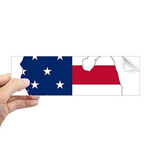 DIYthinker Michigan America USA Map Stars tripes Vlag Rechthoek Bumper Sticker Notebook Window Decal