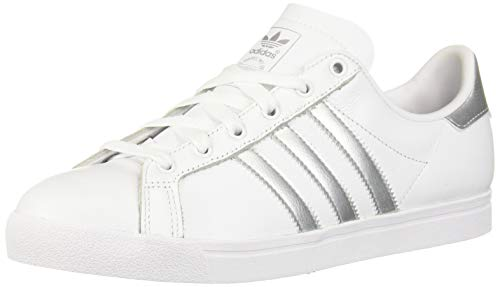 adidas Women's Coast Star Shoes, ftwr White/Silver Met./ core Black, 7 M US