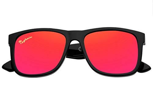 Capraia Rovello Clásicas Gafas de Sol Ultra Ligeras TR90 Montura Deportiva Lentes Polarizadas protección UV400 para Hombre (Rojo)