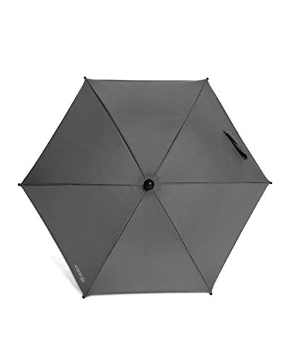 Mamas & Papas Universal Parasol, UPF 50+ Fabric, Easy Fit Clamp and Adjustable, Flexible Arm for Pram/Pushchair/Buggy - Grey Mist