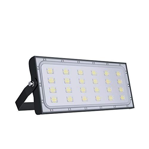 faretto da esterno LED 100W,10600 lumen Bianco Caldo (3000K) faretto led da giardino Luce Proiettore,Impermeabile IP65 Faretto LED Esterno per Giardino, Magazzino,Cortile,Fabbrica.