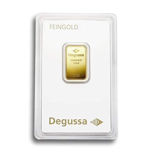 Degussa 5g Goldbarren 999.9 Blister