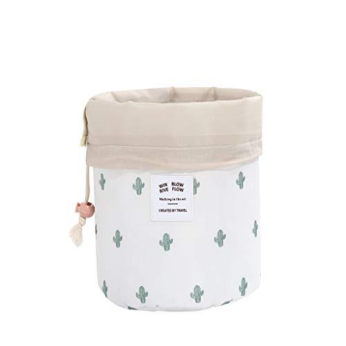 HSKB - Neceser impermeable de algodón y lino, portátil, para viajes y para maquillaje, para mujeres (21 x 13 cm) c 23 x 14 x 23 cm