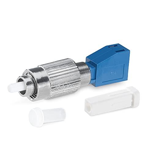 kwmobile Conector de Fibra óptica - Adaptador de Macho FC a Hembra LC - Compatible con medidor de Potencia óptica y localizador de Fallos