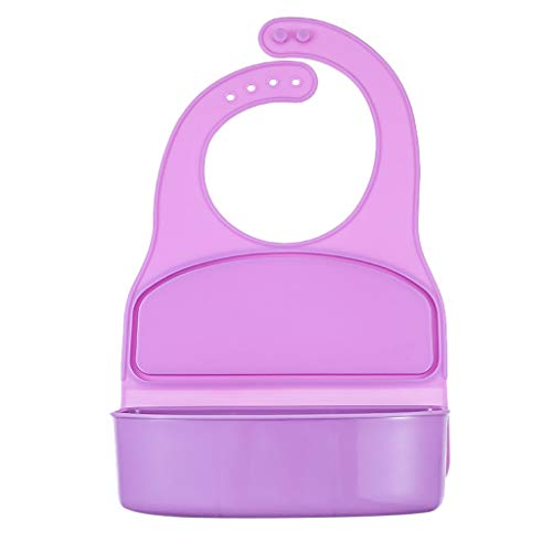 Fewear Children's Lunch Box, Adjustable Cute Silicone Baby Bibs for Babies & Toddlers,Comfortable Easy Wipe Clean for Boy and Girl (C)