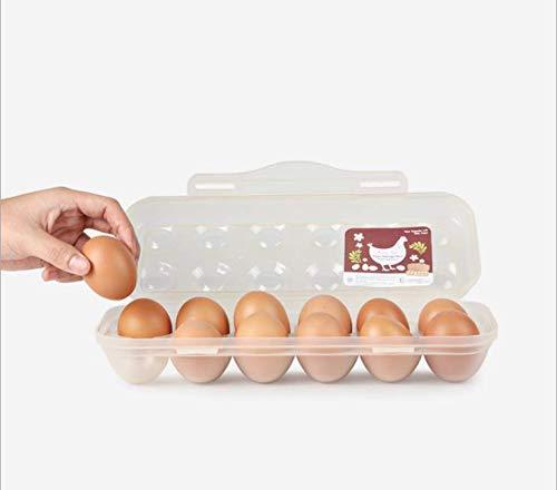 SAYGOGO Egg Storage Box, Plastic Egg Box, Egg Tray, Refrigerator Storage Container, Holder for 18 Eggs