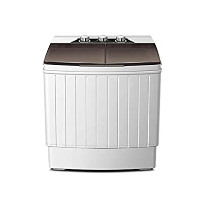 RMXMY Portable Compact Mini Twin Tub Washing Machine With Spin Dryer, Lightweight Small Laundry Washer For Apartments, Dorm Rooms- 550 * 365 * 622mm