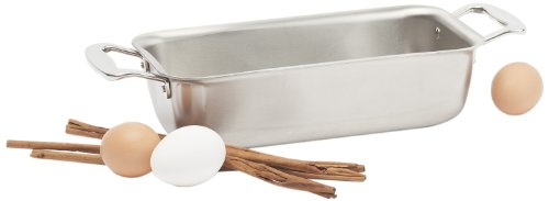 360 Stainless Steel Loaf Pan, Handcrafted in the USA, 5 Ply, Surgical Grade Stainless Bakeware, Dishwasher Safe, Professional Grade, Use as Baking Pan, Roasting Pan (11'x6'x3')