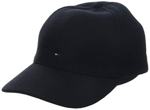 Tommy Hilfiger Herren BB Melton Baseball Cap, Schwarz (Black 002), One Size (Herstellergröße: OS)