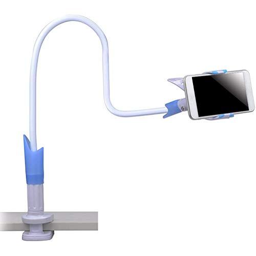 De pie cuello de cisne soporte for teléfono de aleación de aluminio Varilla Clip del teléfono celular for el dormitorio Oficina de escritorio Baño Cocina girar libremente Lazy Soporte Holder-White