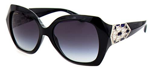 Bulgari 0Bv8182B 901/8G 55 Gafas de sol, Negro (Black/Grey), Mujer