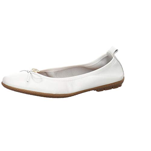 Antonella S.r.L. Damen Ballerina Leder Weiss Gr. 42
