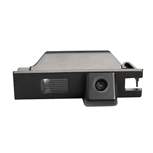 HD 720p Rückfahrkamera für Rückfahrkamera für universelle Monitore (RCA) (Farbe: Schwarz) für Opel Astra H J Corsa D Meriva A Vectra C Zafira B FIAT Grande Insignia