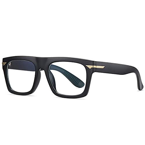 Gafas De Sol Hombre Mujeres Ciclismo Gafas Cuadradas Retro Transparentes, Montura De Gafas para Mujer, Montura De Anteojos A La Moda para Hombre, Gafas-Matte_Black