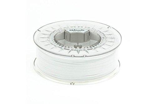 "extrudr® PETG ø1.75mm (1.1kg)\""WEISS\"" (RGB 255:255:255) - 3D Drucker Filament - Made in EU - höchste Qualität zum fairen Preis!"