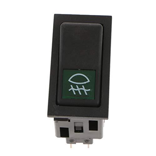 H HILABEE Control de Encendido Y Apagado Del Interruptor Basculante de La Luz Antiniebla de 4 Pines para El Carro Del Coche Tailer