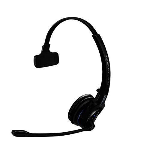 Sennheiser MB Pro 1 (506041) - Single-Sided, Wireless Bluetooth Headset | For Mobile Phone Connection | w/ HD Sound & Noise Cancelling Microphone (Black)