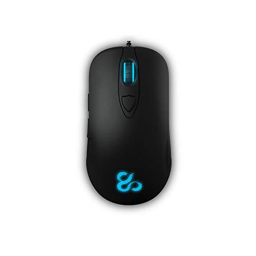 Newskill renshi - ratón ergonómico Gaming (Sensor Laser 8200dpi, RGB, Software de personalización) Incluye mousefeet de Recambio y Bolsa de Transporte.