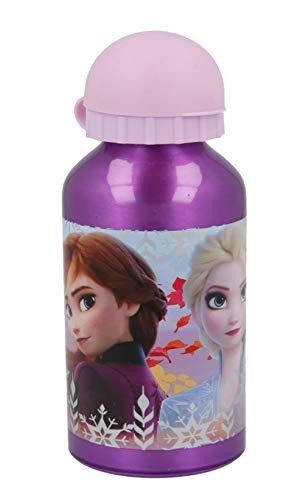 Theonoi - Botella de agua para niños, botella de agua, botella de aluminio, a elegir, Frozen Princess, Ladybug, Minions, Minnie, Peppa (Frozen)