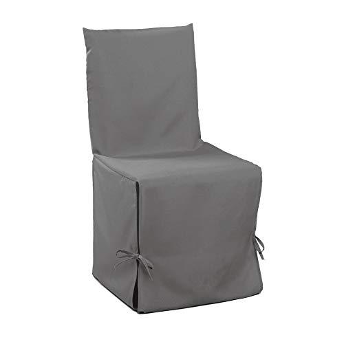 douceur d'intérieur housse de chaise nouettes 50x50x50cm essentiel gris