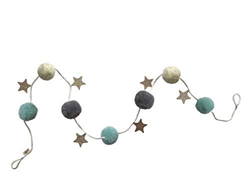 My Magic Pom Pomps - Guirnalda de pompones con estrellas