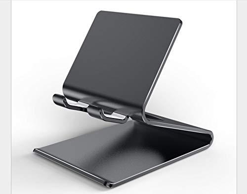 Teléfono Móvil Soporte De Escritorio iPad Base Live Tap Reloj Movie Creative Multifunción Soporte Perezoso Xialinr (Color : Black)