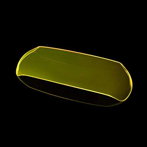 YUQINN Motorradteile For GOGORO GOGORO2 2017-2018 Motorrad-Scheinwerfer-Schutz-Abdeckung Schild-Schirm-Objektiv (Color : Fluorescent yellow)