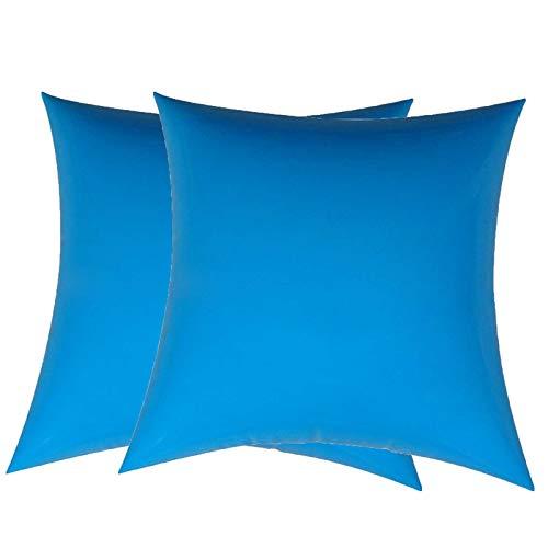 JONJUMP 2 unids almohada inflable al aire libre grande almohada cuadrada camping saco de dormir almuerzo descanso plegable viaje cuadrado aire