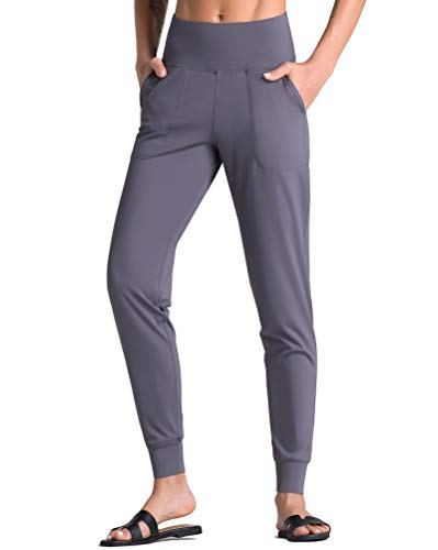 Dragon Fit Joggers for Women with Pockets,High Waist Workout Yoga Tapered Sweatpants Women's Lounge Pants (Joggers78-Vintage Purple, Medium)