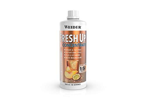 Weider Fresh Up Getränkekonzentrat, Pfirsich-Maracuja, zuckerfrei mit Vitaminen und Mineralstoffen, 1 Liter
