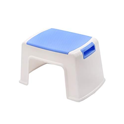 Tuinbank, kleur kunststof, stapelbaar kruk verdikt, robuuste huiskruk keukenkruk studentenkruk schoenenbank veranderen 21CM blauw